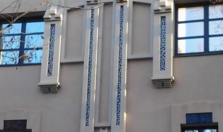 Detalle de moldura para fachada