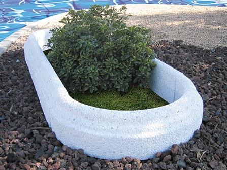 Aros con relieve para jardín