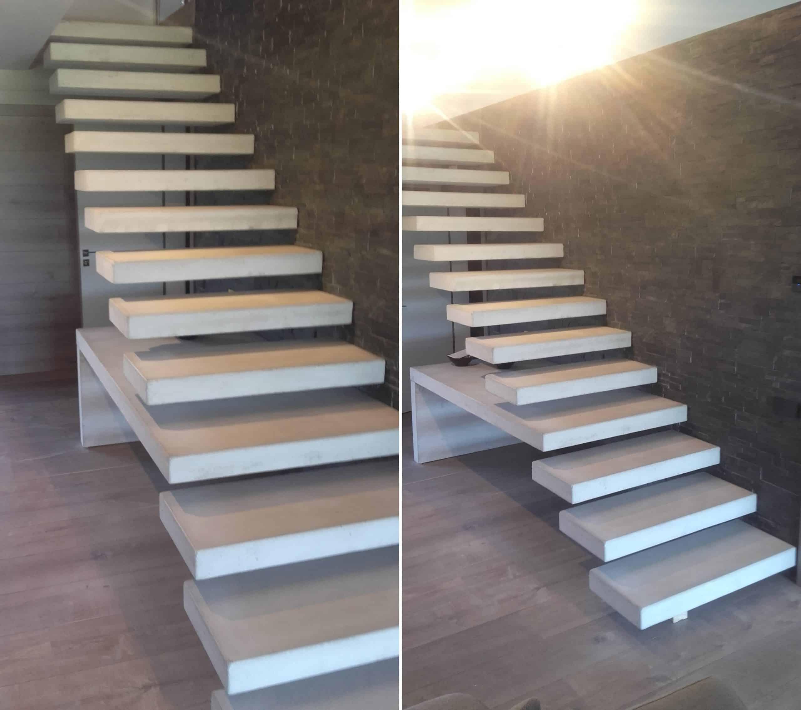 Escalera de hormig n empotrada predecat - Escaleras de ladrillo ...