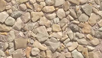 Piedra artificial acabado raspado tierra